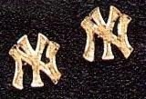 NYY earrings