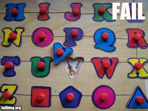 Alphabet fail