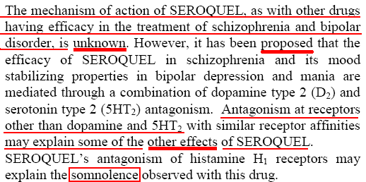 Seroquel warnings